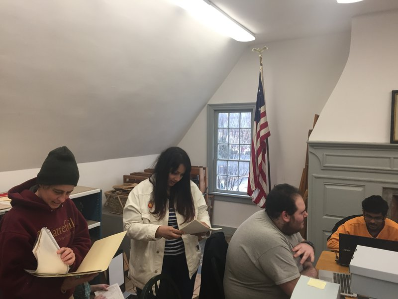 Winter Session 2017 Team in the archives at Historic Red Hook