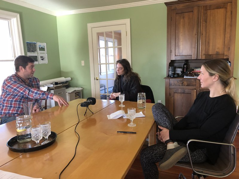 Emma Washburn interviewing Bruce and Holly Brittain